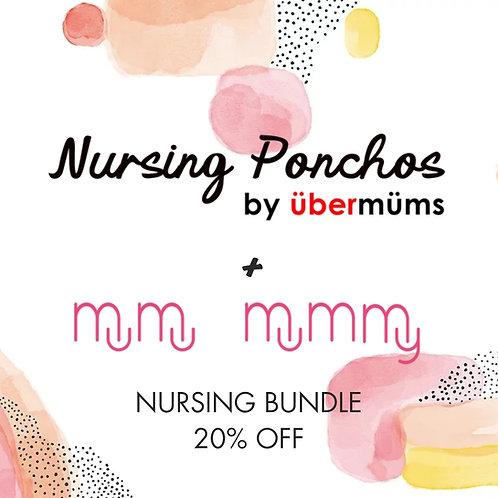 Ubermums Blue Botanics Nursing Poncho + MuMu Mummy Lactation Herbal Tea.