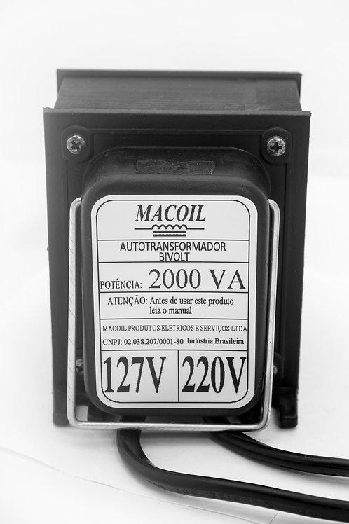 Autotransformador 2000va - Bivolt 3 Pinos - Macoil - Premiun