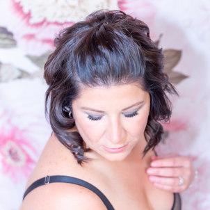 Ms E with black lace bodysuit.