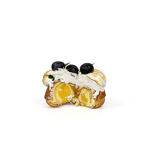 Lemon Curd & Blueberry Choux  Box of Six 