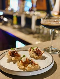 Hamhock, pork crackling and espresso at Micawber Tavern
