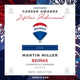 MARTIN MILLER Lifetime Achievement Award
