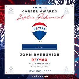 JOHN RARESHIDE Lifetime Achievement Awar