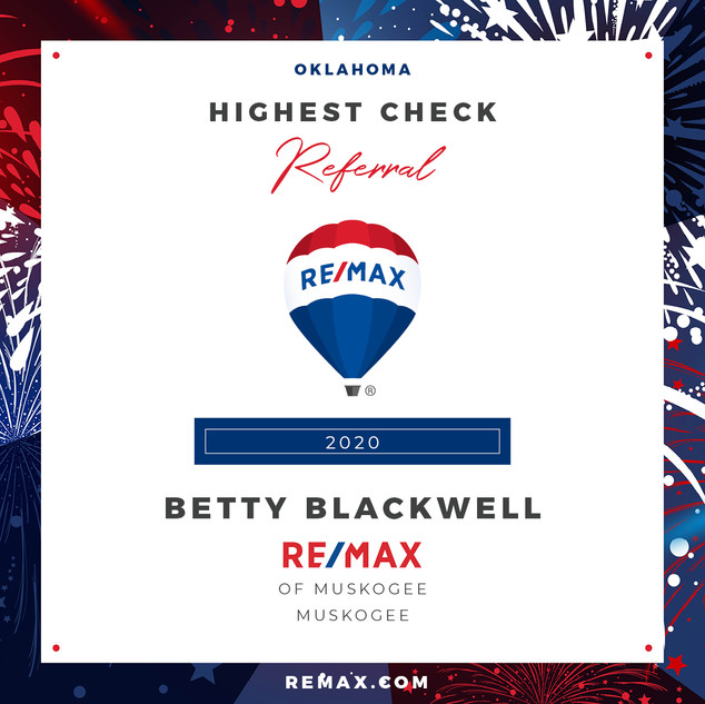 Betty Blackwell Highest referral check.j