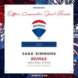 JAKE SIMMONS Cooperative Spirit Award.jp