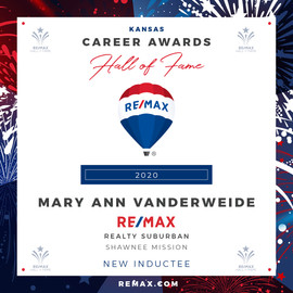 MARY ANN VANDERWEIDE Hall of Fame Award.