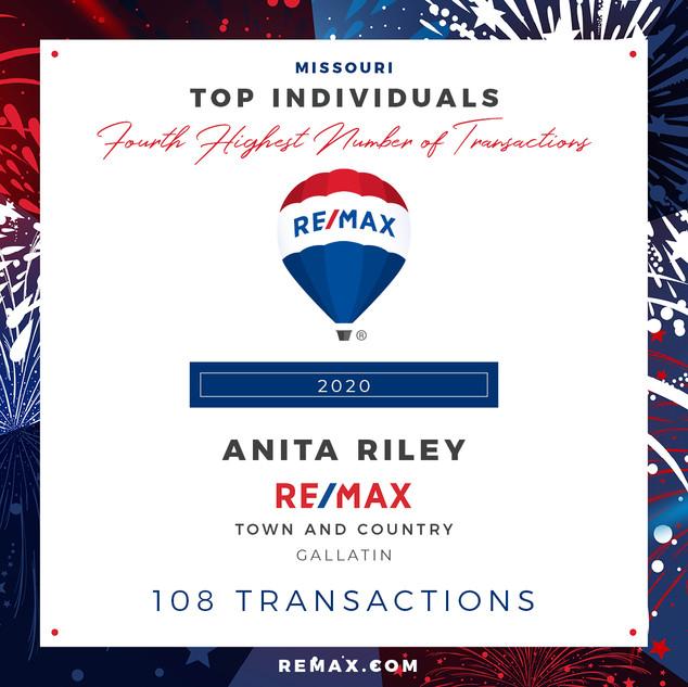 ANITA RILEY TOP INDIVIDUALS BY TRANSACTI