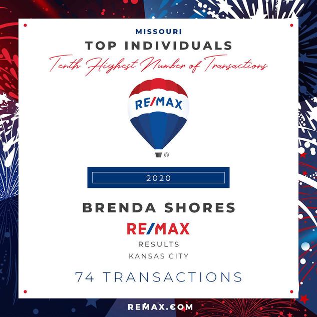 BRENDA SHORES TOP INDIVIDUALS BY TRANSAC