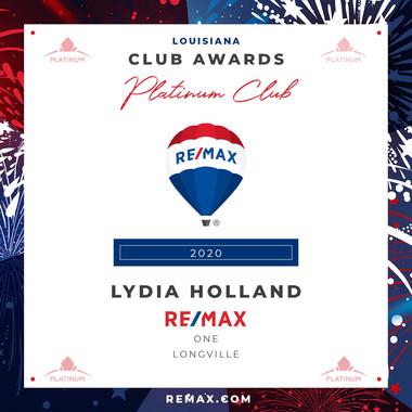 LYDIA HOLLAND PLATINUM CLUB.jpg