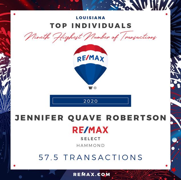 JENNIFER QUAVE ROBERTSON TOP INDIVIDUALS