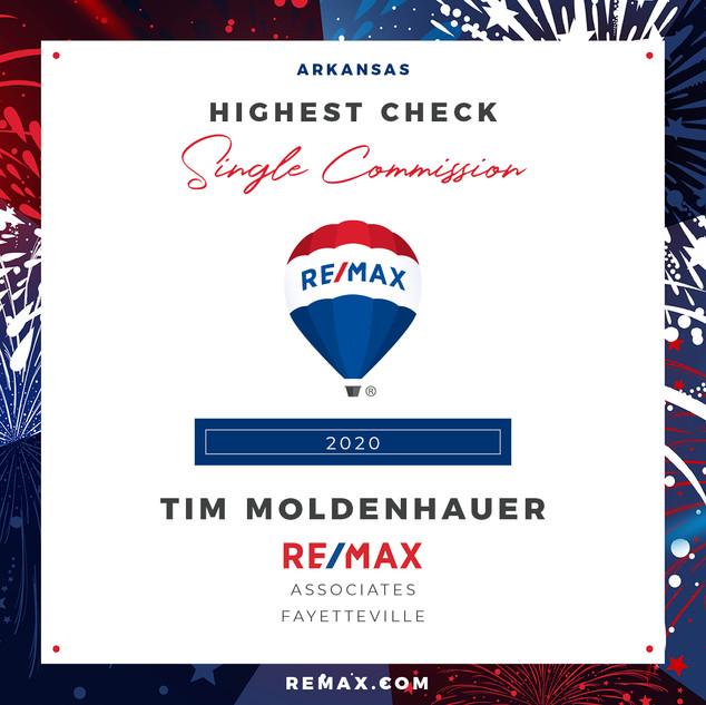 Tim Moldenhauer Highest Check Single Com