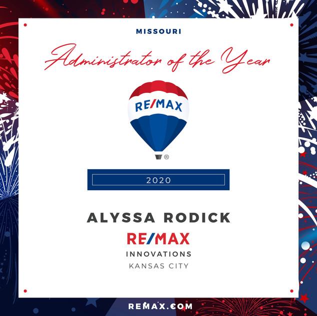 Alyssa Rodick Administrator of the Year