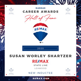 SUSAN WORLEY SHARTZER Hall of Fame Award