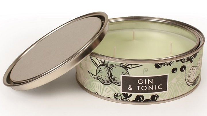 Hand Poured 3 Wick Gin & Tonic Candle
