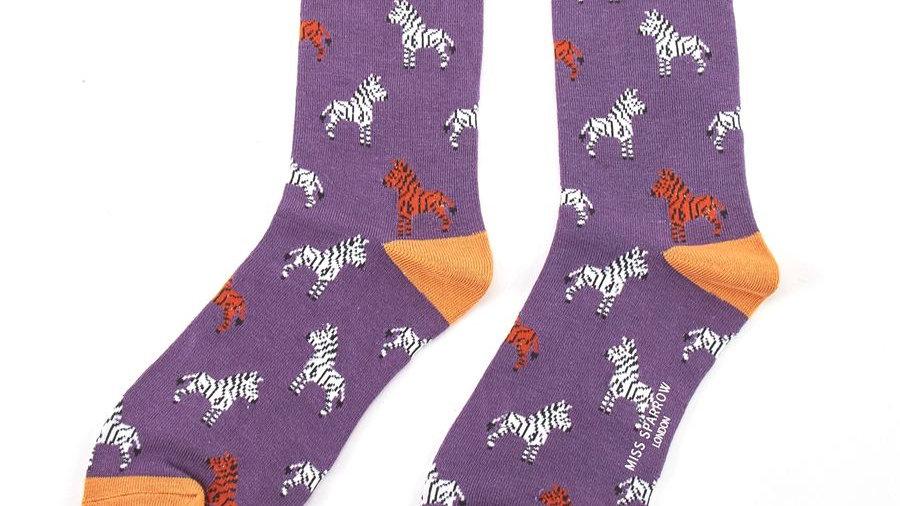 Zebra Bamboo Socks