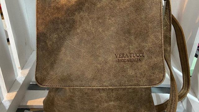Vintage Leather Cross Body Bag