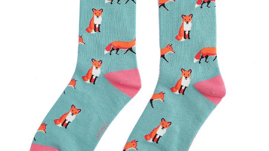 Foxes Bamboo Socks