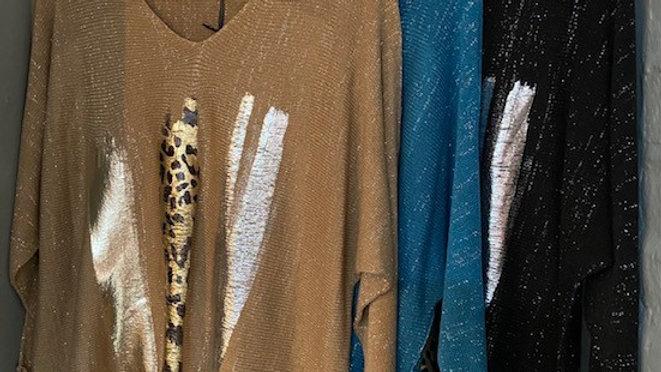 Sparkle Knitwear Jumper with Flash Stripe