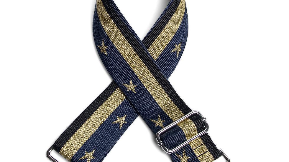 Navy/Gold, Stars & Stripes Bag Straps