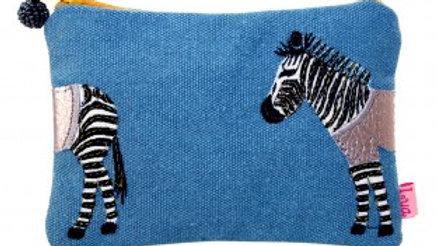 Zebra Embroidered Coin Purse