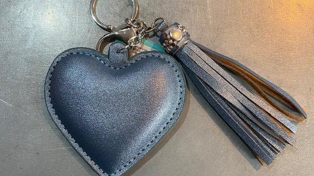 Metallic Heart Key Ring
