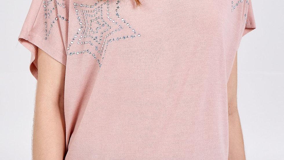 Embellished Star on the Shoulder Tee