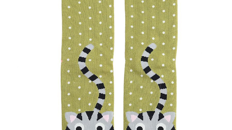 Cats Stripey Tail Bamboo Socks