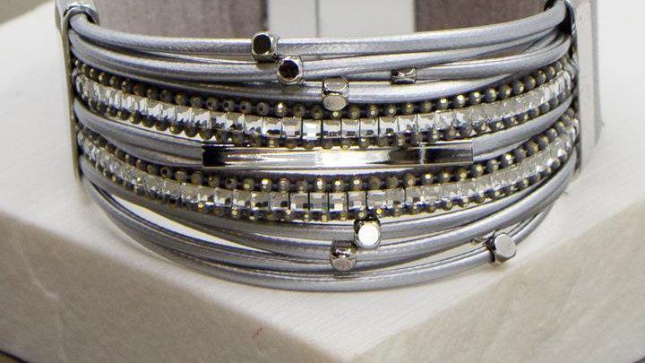 Wide Band Multi Strand Bracelet