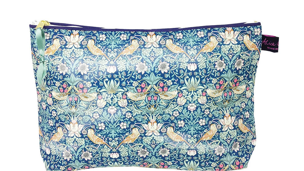 Wash Bag Strawberry Thief Forest Liberty Print