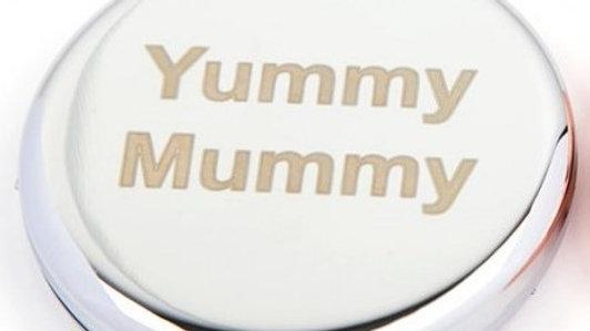Yummy Mummy Sparkle Compact Mirror