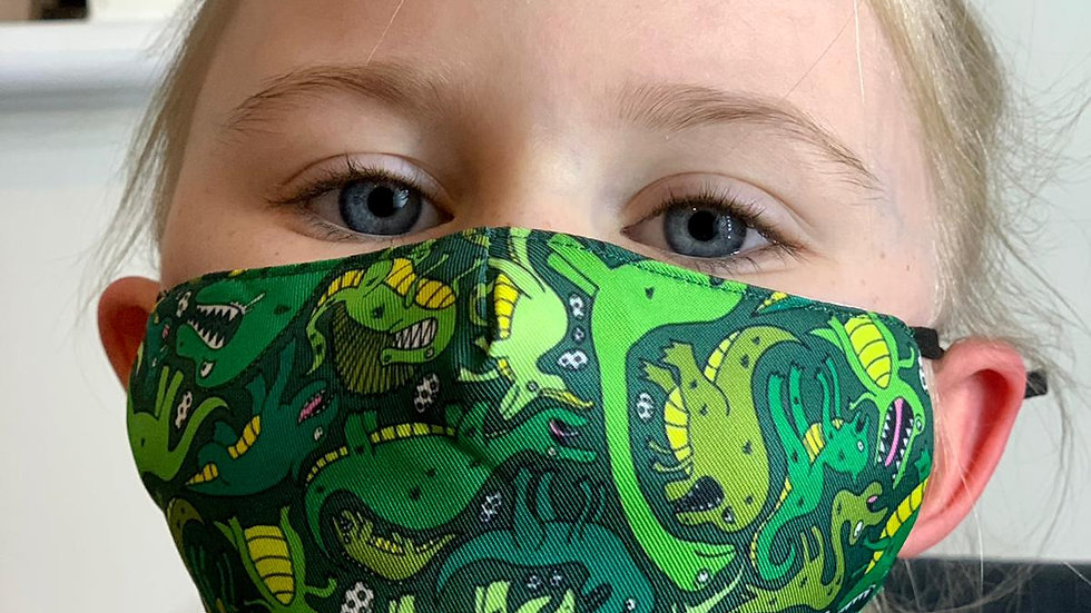 Childrens Dinosaur Face Covering
