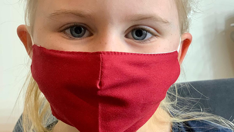Childrens Plain Face Covering