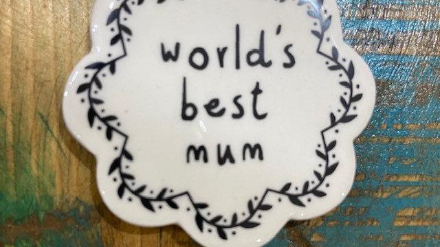Black & White Ceramic Token Mum