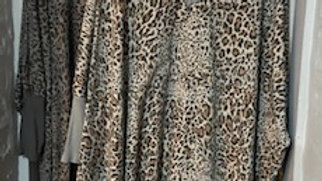 Animal Print V Neck Cotton Top