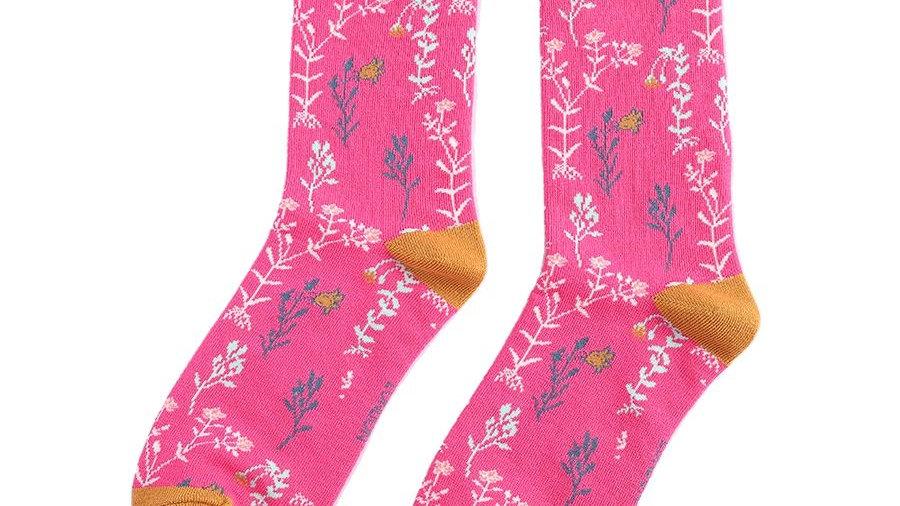 Floral Bamboo Socks