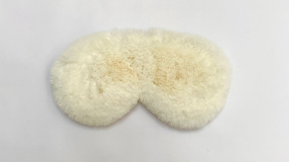 White Fluffy Eye Mask