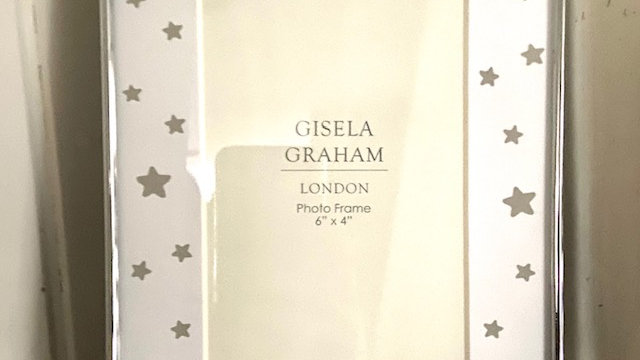 Grey Stars Photo Frame