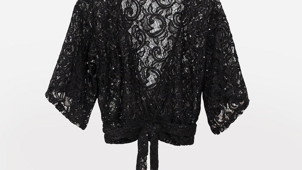Black Lace Bolero Cover Up