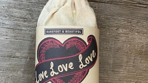 Barefoot & Beautiful Bath Salts in Canvas Bag