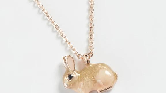 Enamel Rabbit Necklace
