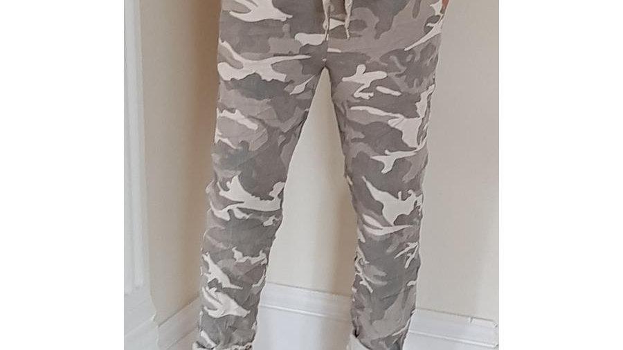 Taupe Camo Print Lounge Pants
