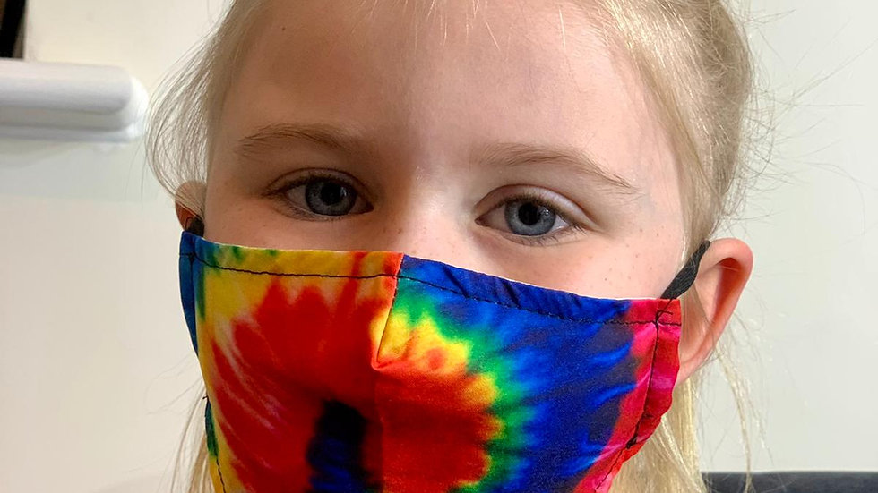 Childrens Tie Dye Face Covering