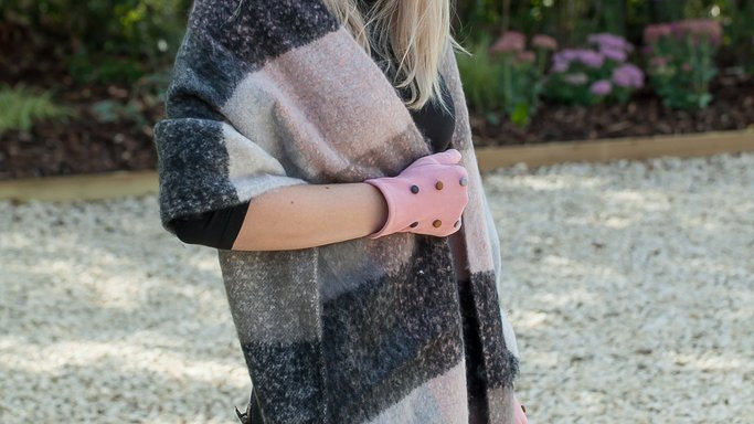 Soft Check Winter Scarf/Wrap