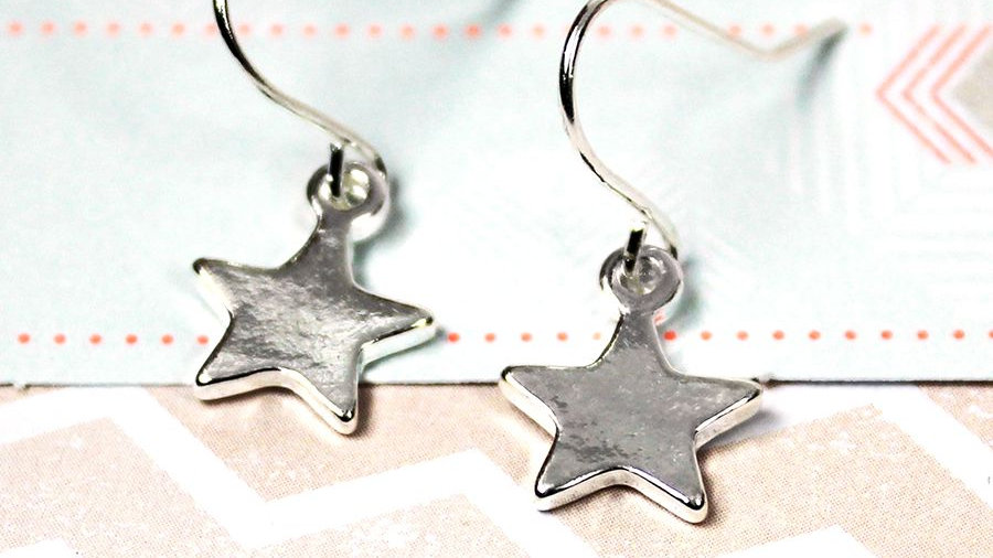 Small Star Drop Earring