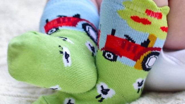 Luxury Baby Socks 'Tractor'