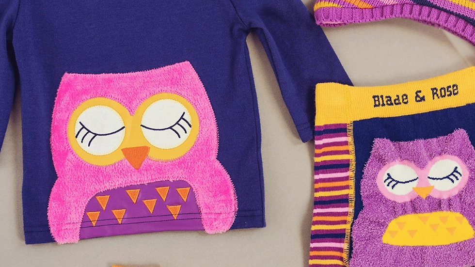 Betty Owl Cotton Top
