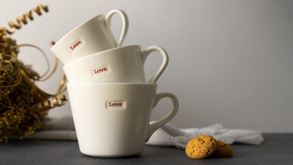 Porcelain WORD mugs 350ml