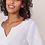 Thumbnail: White Embroidered Linen Top