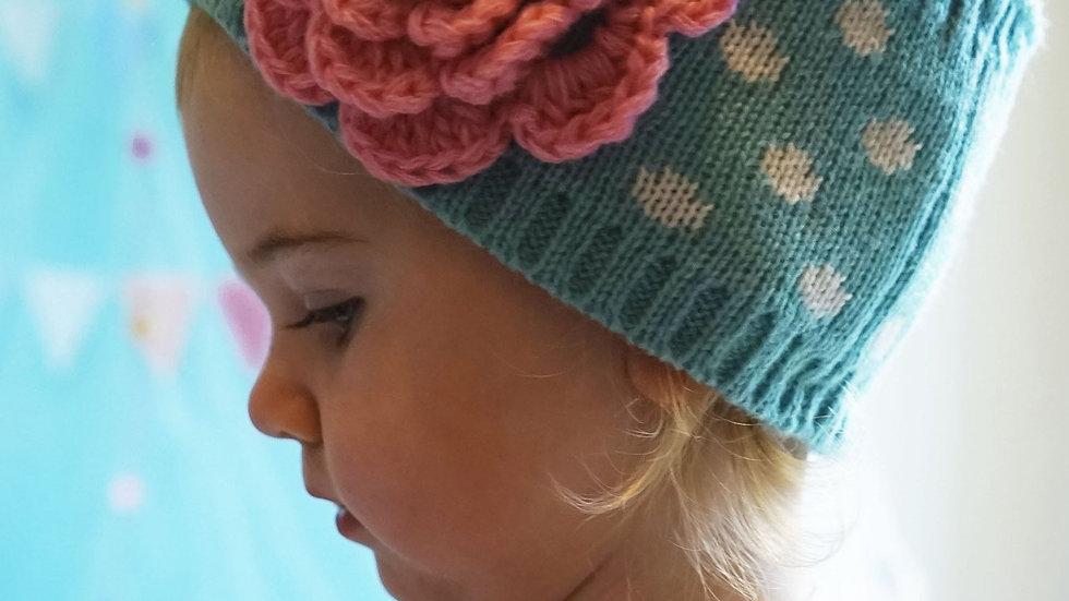 Girls Flower Ear Warmer