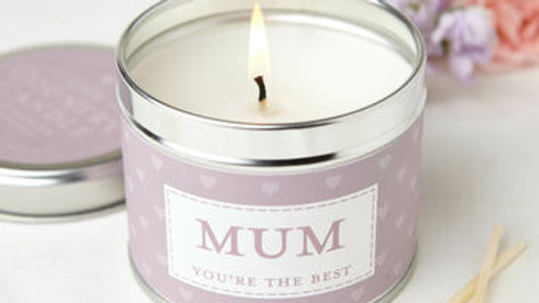 Mum Your The Best  Tin Candle